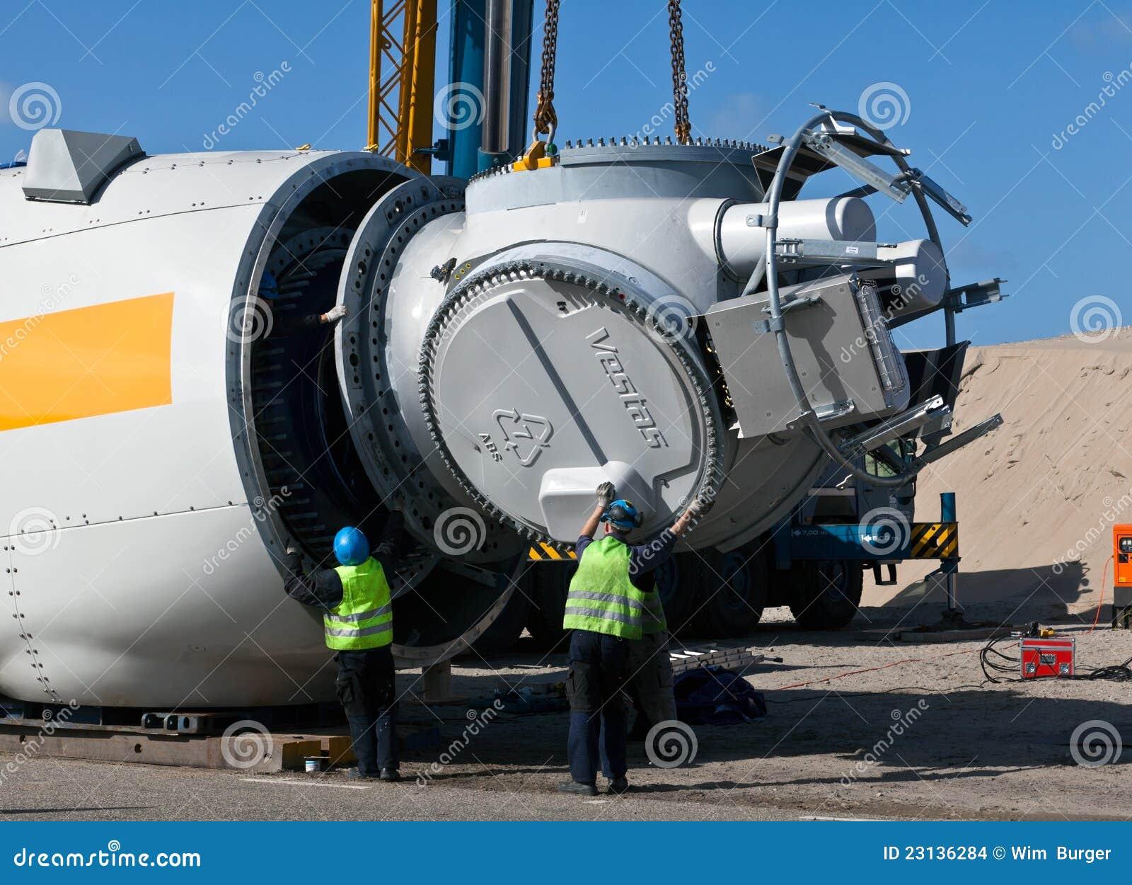 Wind Turbine Construction Site Editorial Stock Image - Image: 23136284