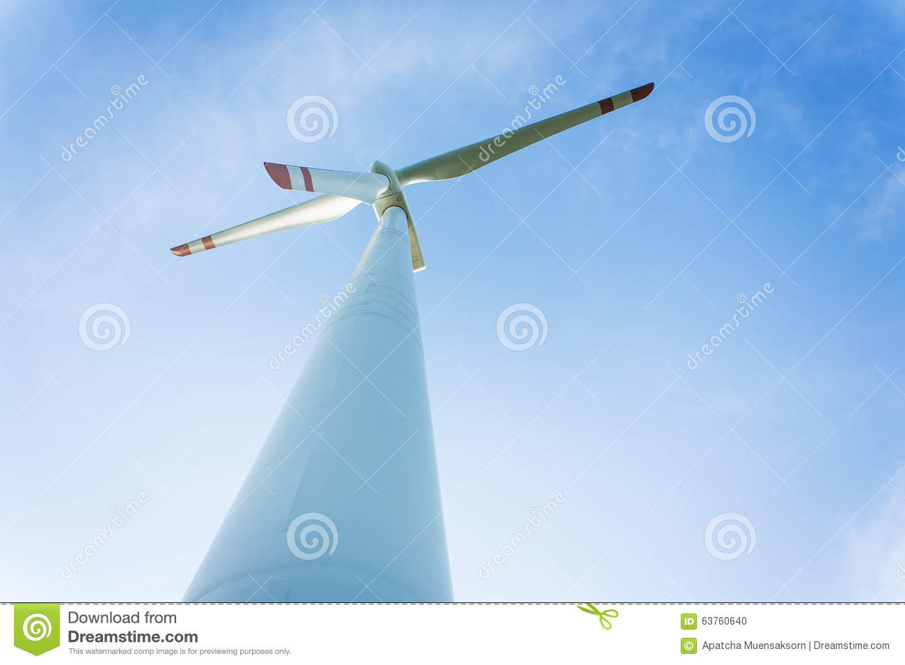 Wind Turbine Generating Electricity Stock Photo - Image: 63760640