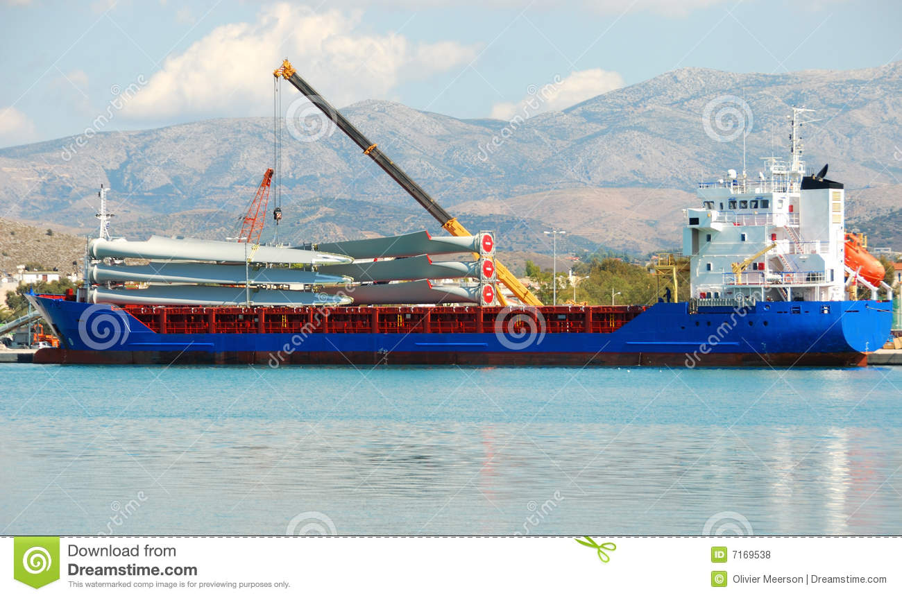 Wind turbine in parts stock photo  Image of boat, blade