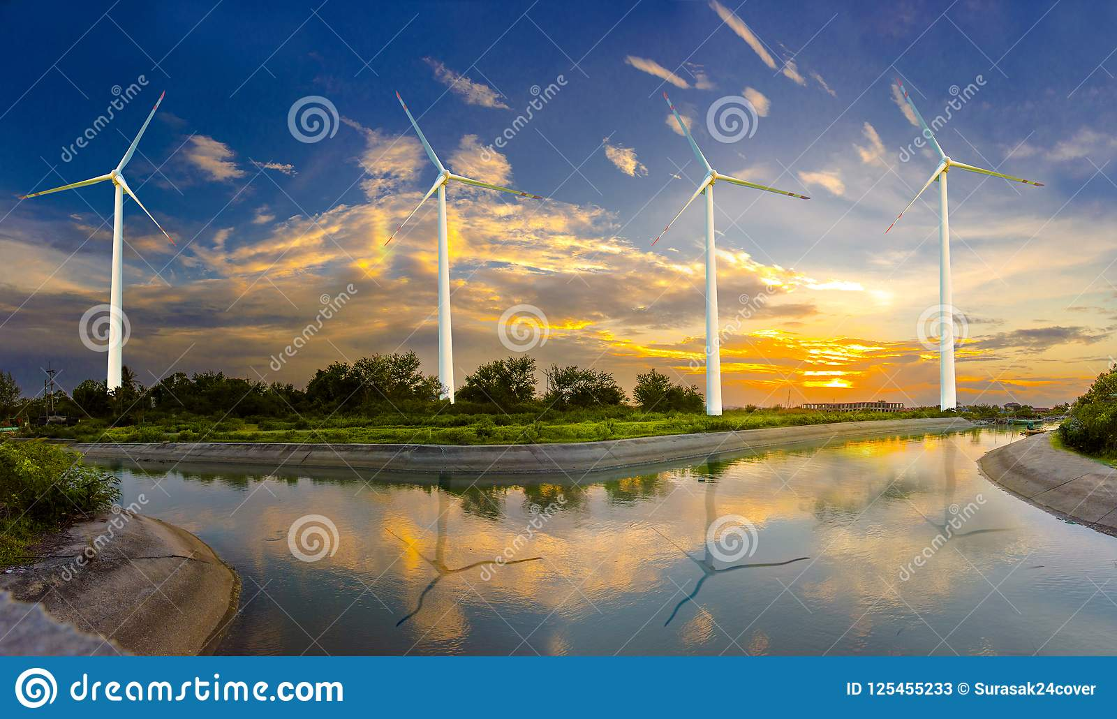 Wind turbine or wind power Translated into electricity, environmental protection Make the world not hot.