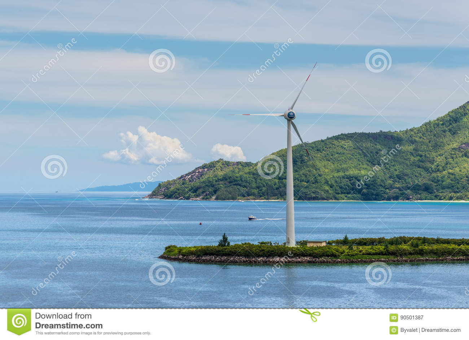 Wind Turbine Producing Alternative Energy Editorial