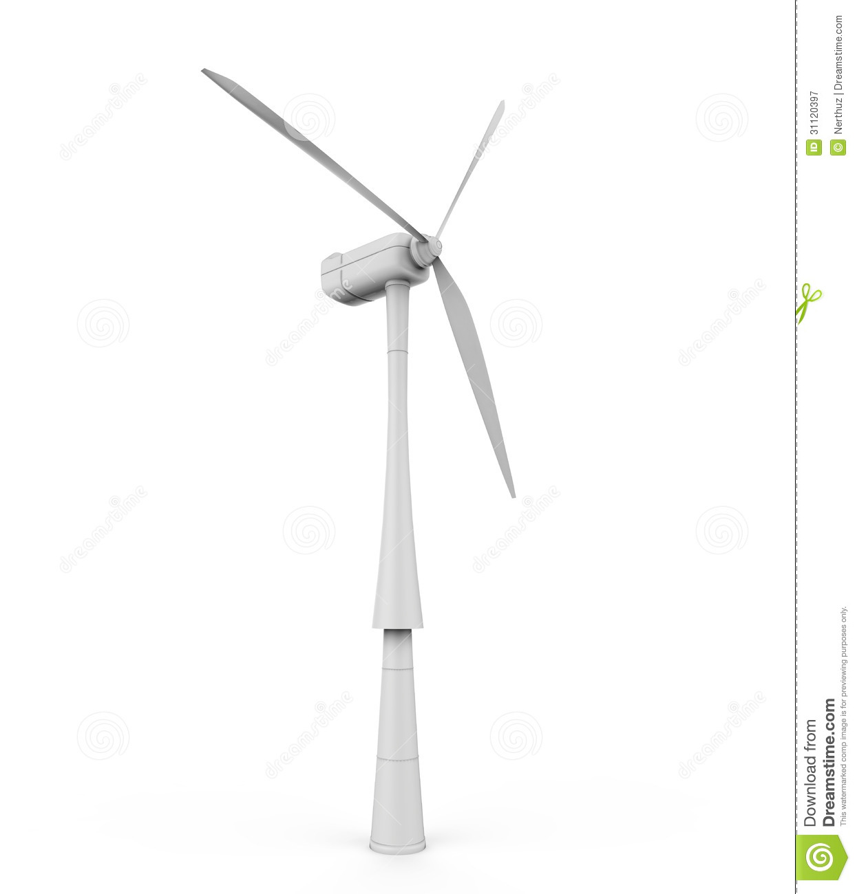 how to make a wind turbine model out of paper