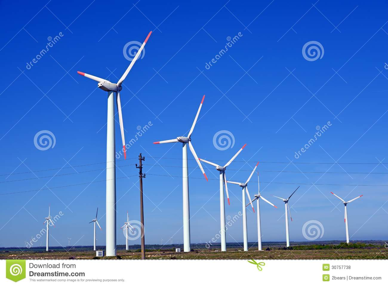 Wind Turbines Farm - Alternative Energy Royalty Free Stock Photos ...