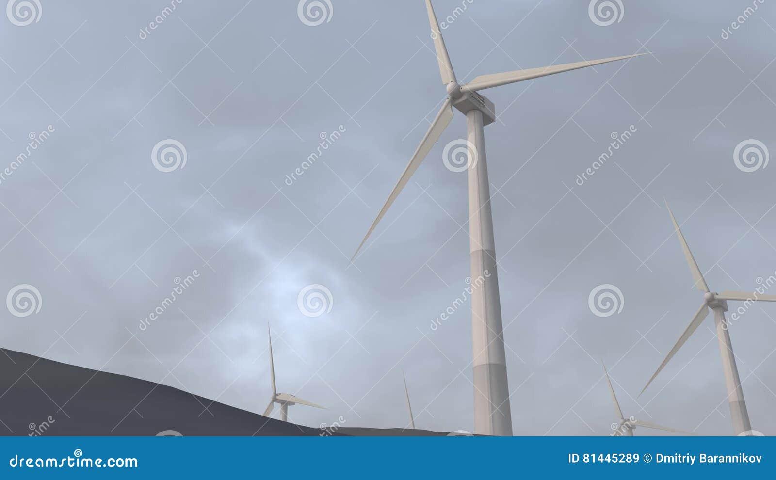 Wind turbines stock video  Video of industry, design - 81445289