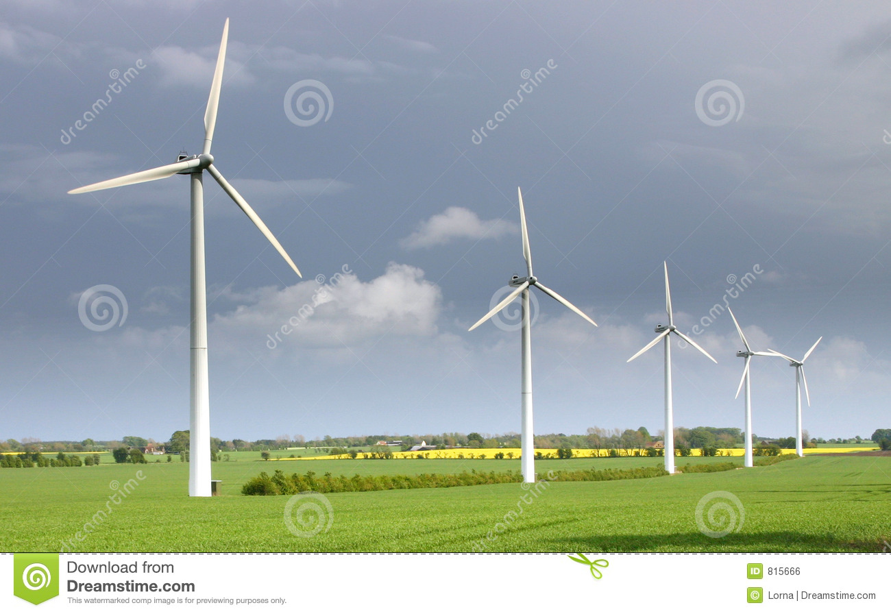 wind turbines modern windmills stock photo image of