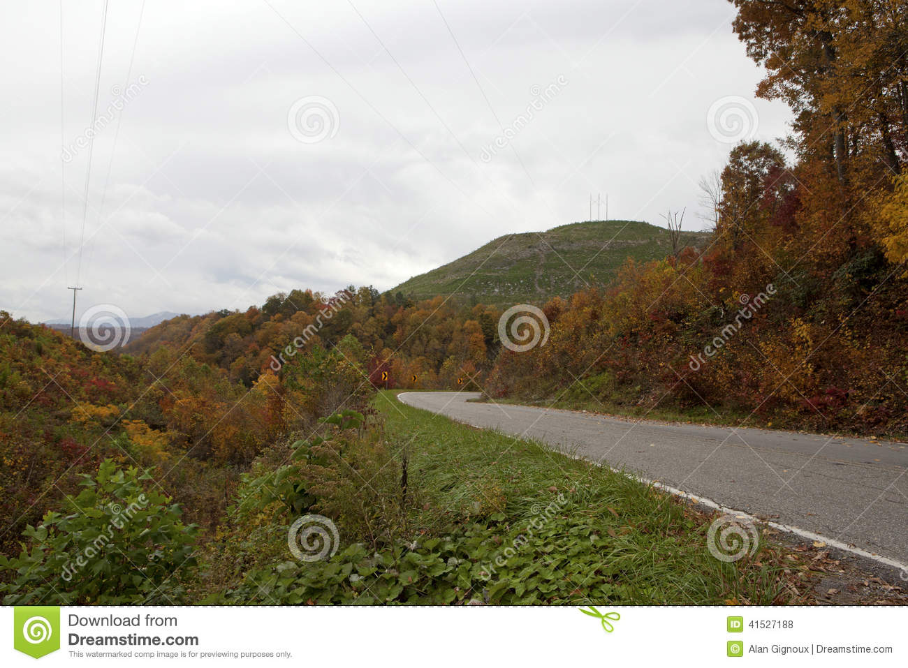 Windende weg in Appalachia