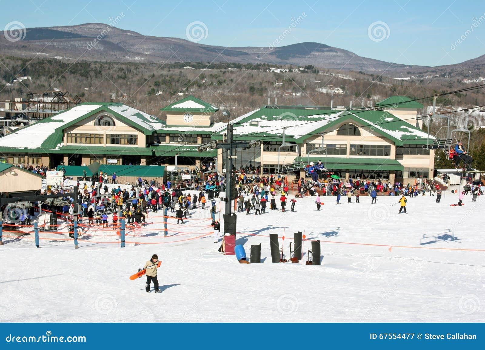 snow tubing, windham mountain ski editorial stock image - image of