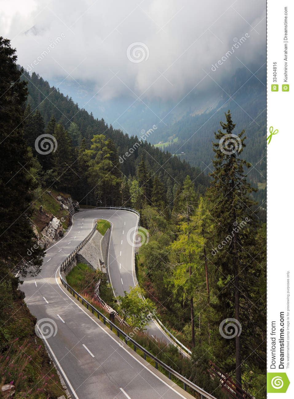 Time Road Id Roblox: Winding And Dangerous Mountain Road Stock Photo