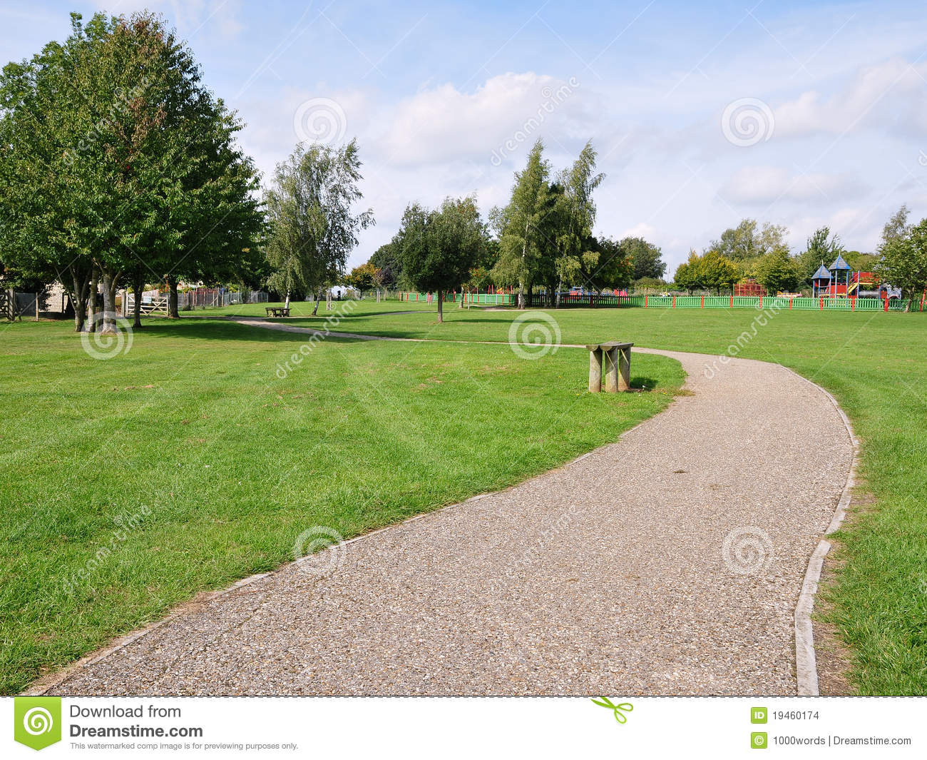 Winding Park Path Stock Images Image 19460174