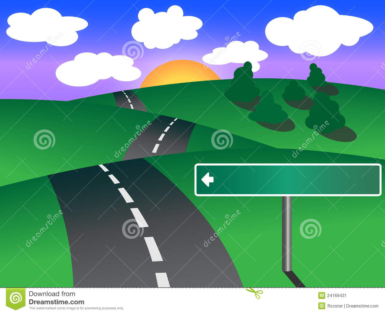 blank road map graphic