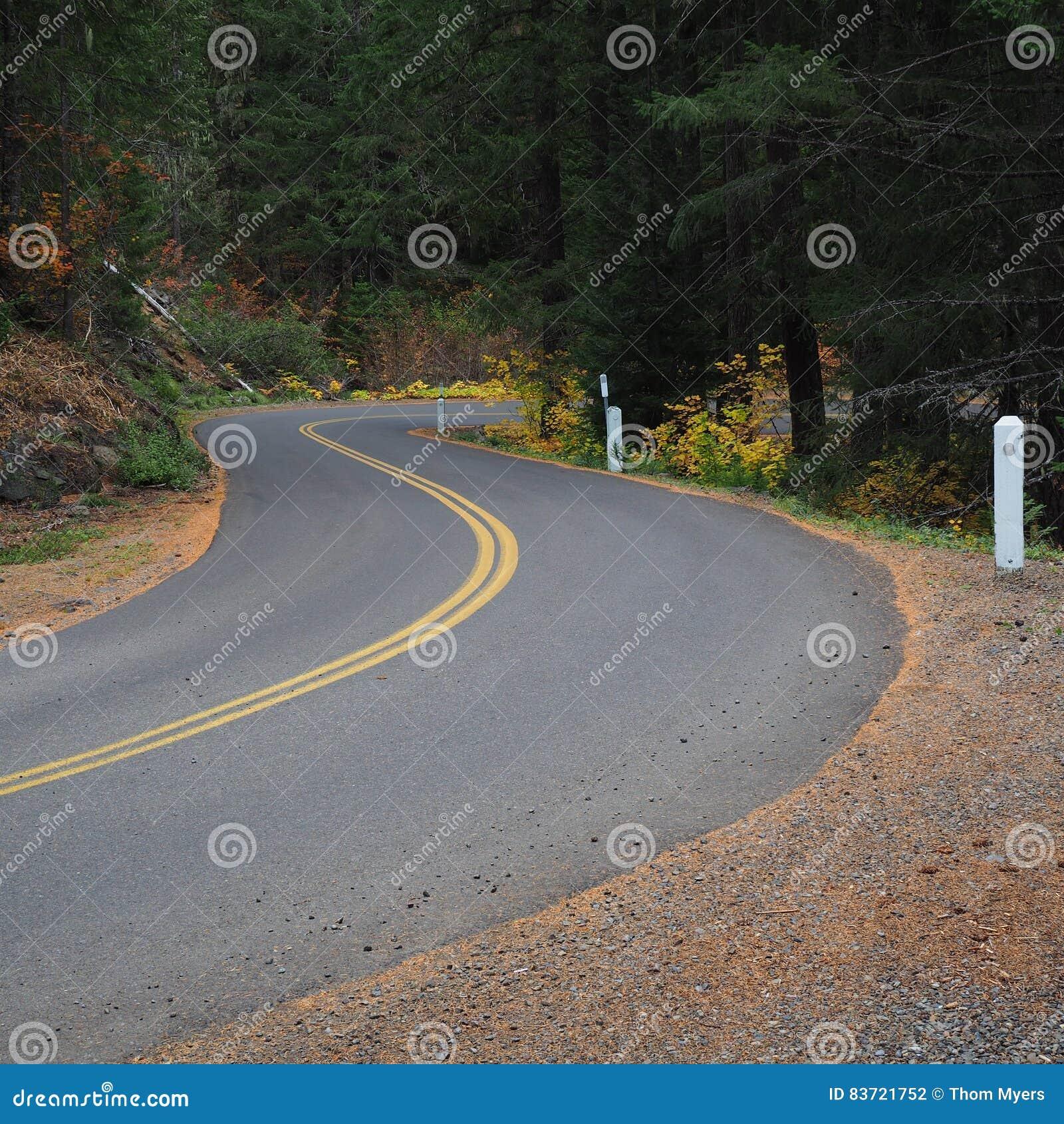 Winding Road In Fall Stock Photo