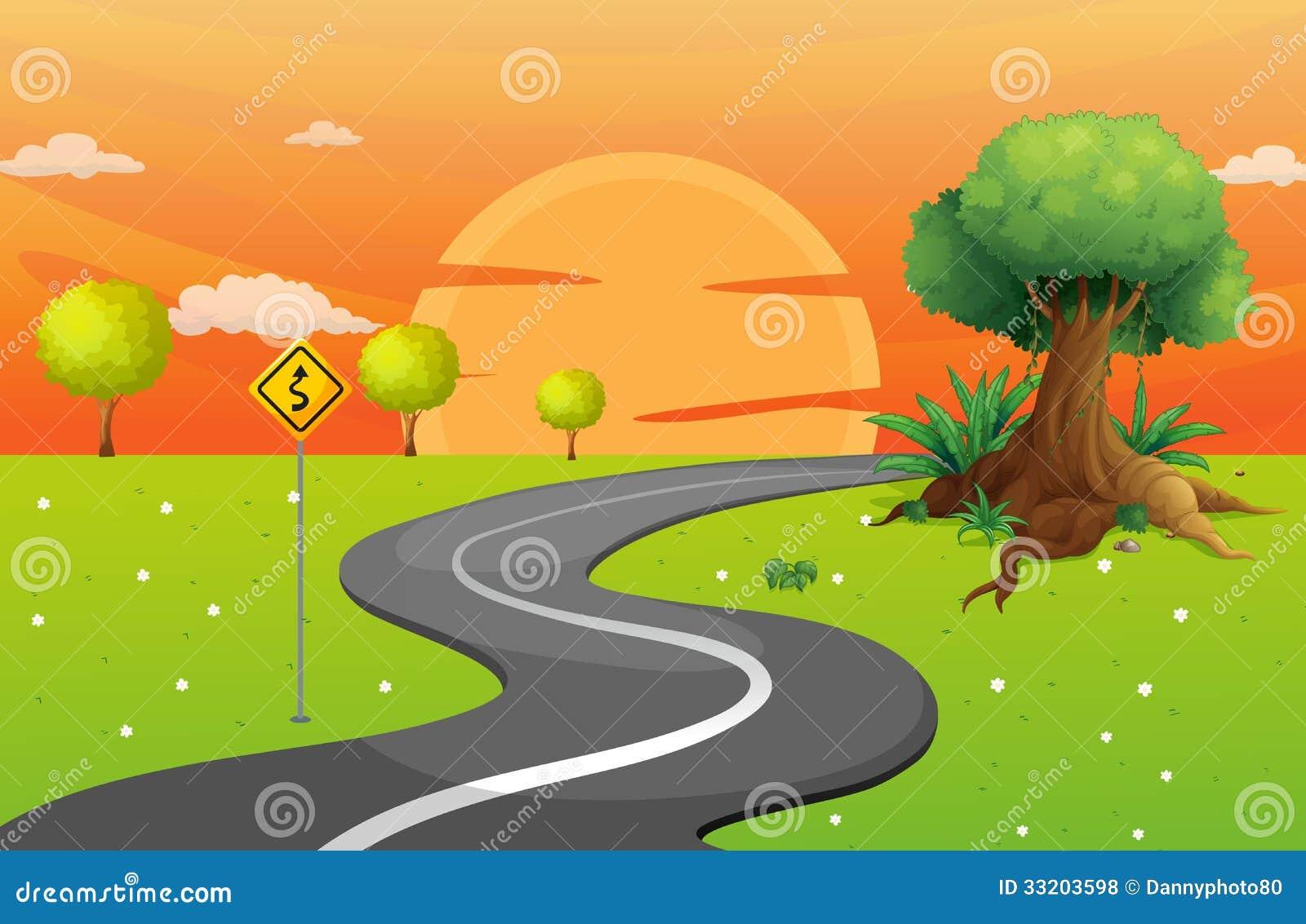 Winding Path Illustration winding-road-illustration-