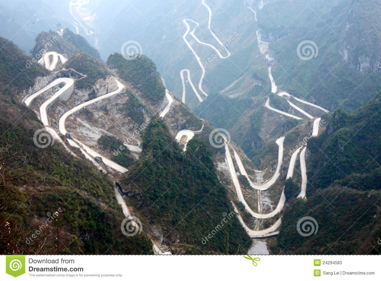 Winding Roads In Mountains Stock Photos Image 24294583