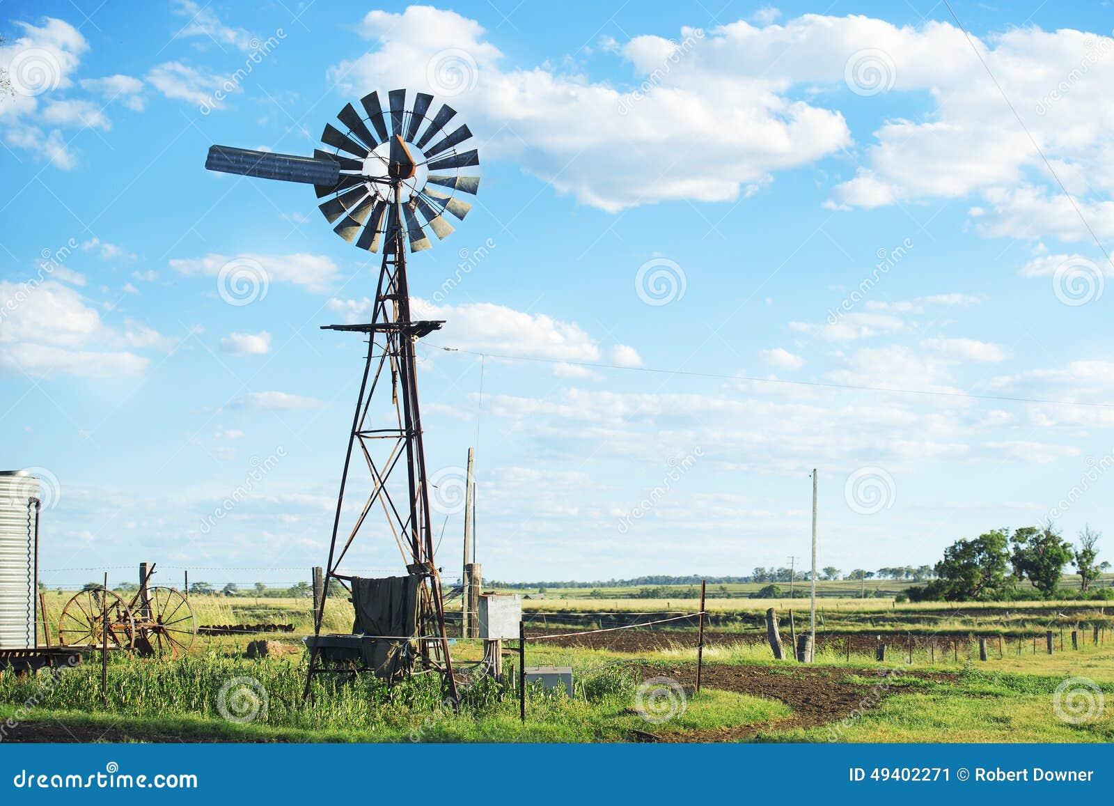 Download Windmühle in Brisbane stockbild. Bild von wind, landschaft - 49402271