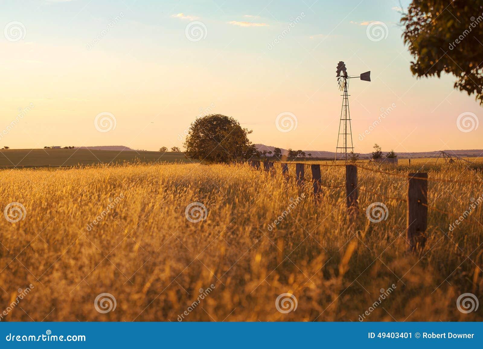 Download Windmühle in Brisbane stockbild. Bild von dürre, land - 49403401
