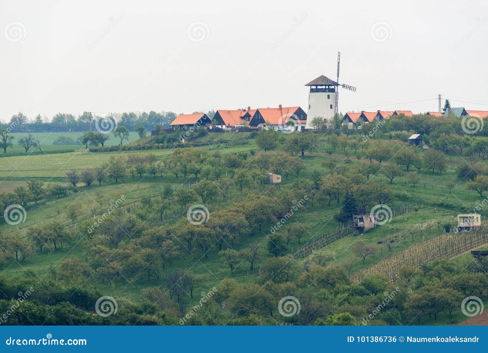 Windmühle in Bukovany, Süd-Moray, Tschechische Republik