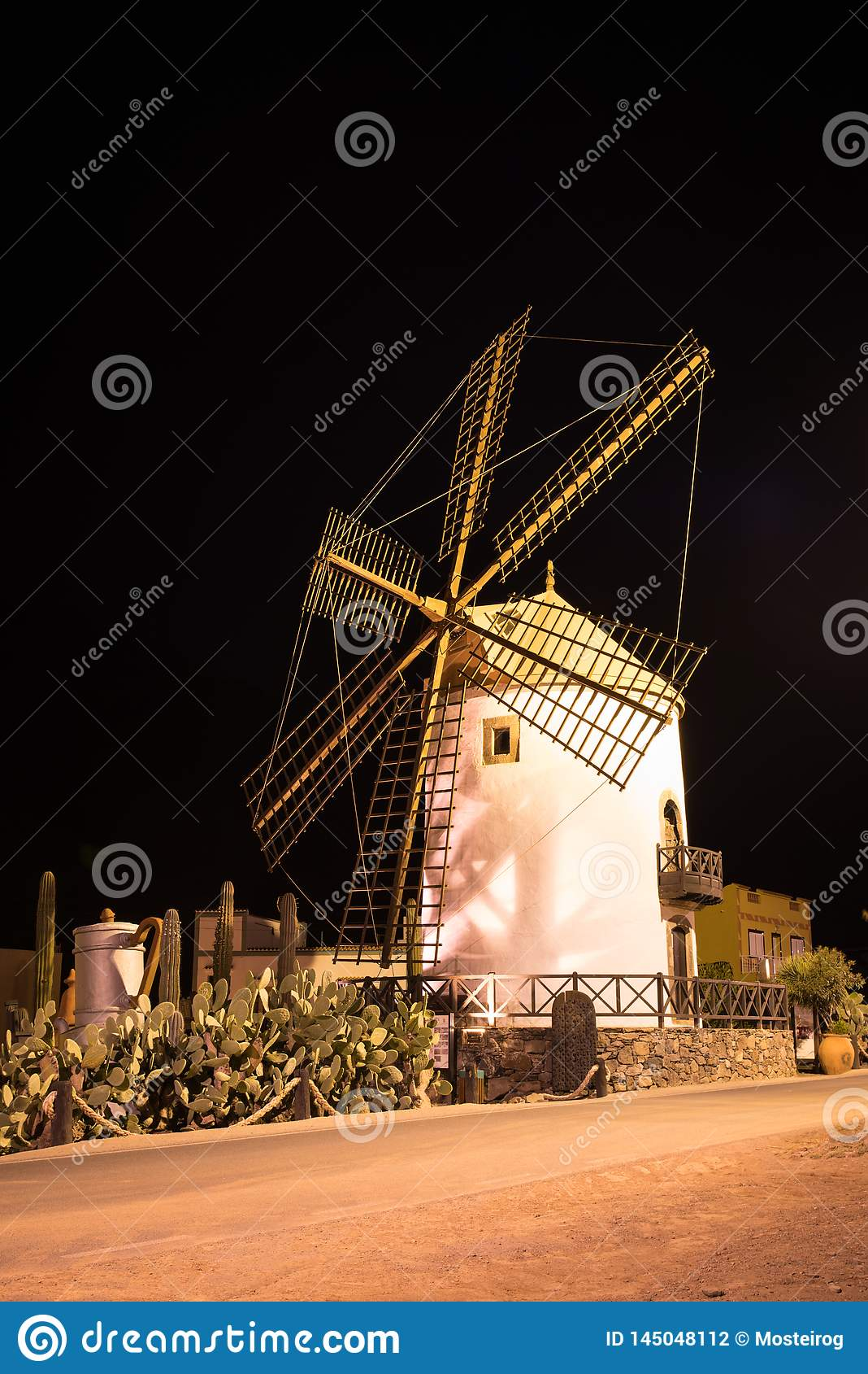 Windmühle, Dorf von Mogan in Gran Canaria, Spanien