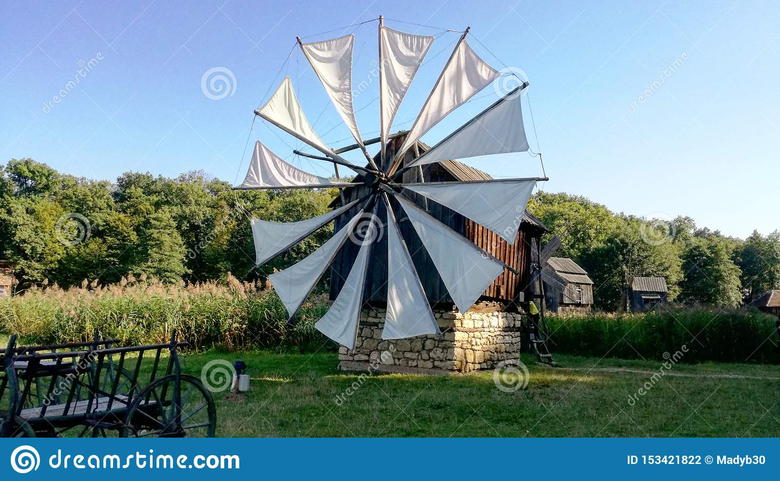 Windmill in a bath of sun