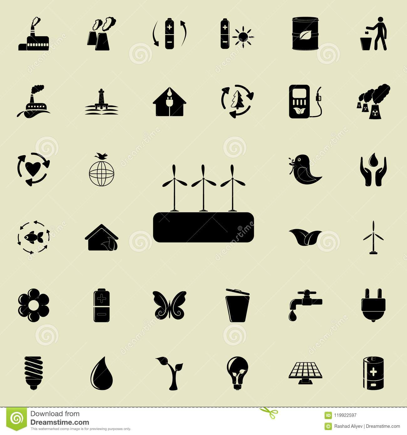 Windmill Electra Mills Icon  Detailed Set Of Ecology Icons