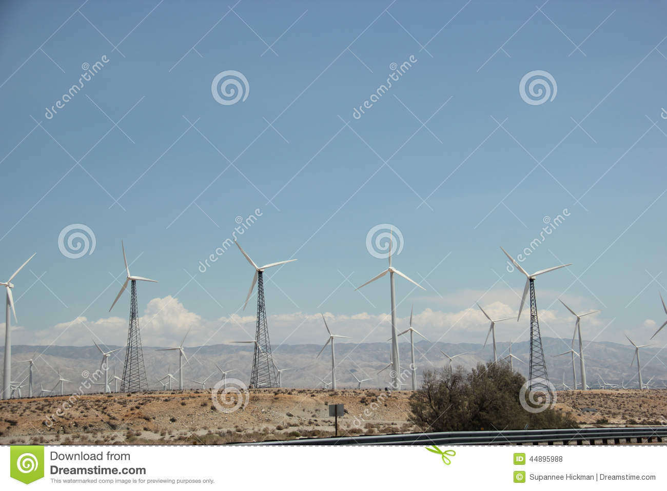 Windmill Generating Electricity for People in Southern California.