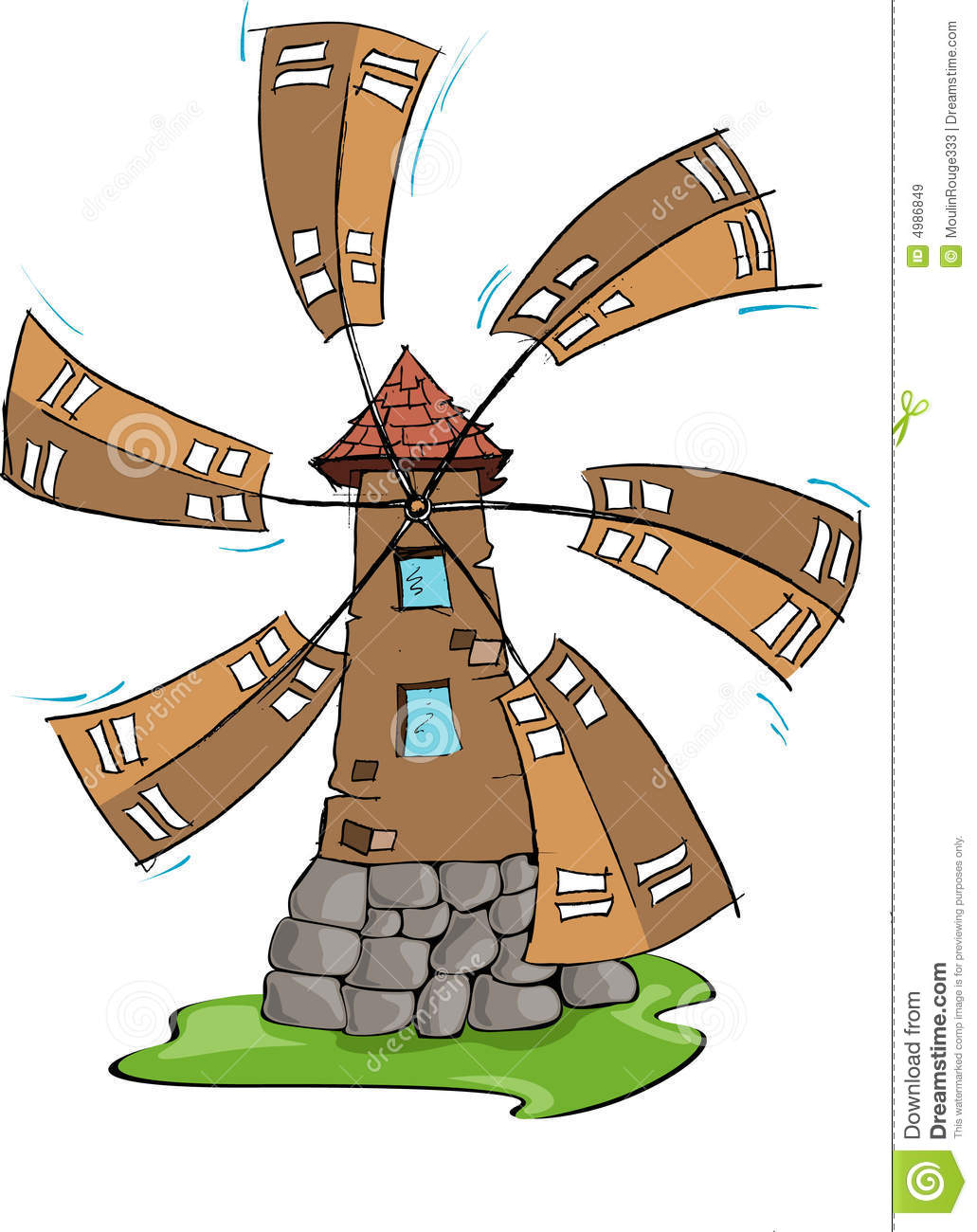 Windmill, Hand Draw Royalty Free Stock Images - Image: 4986849