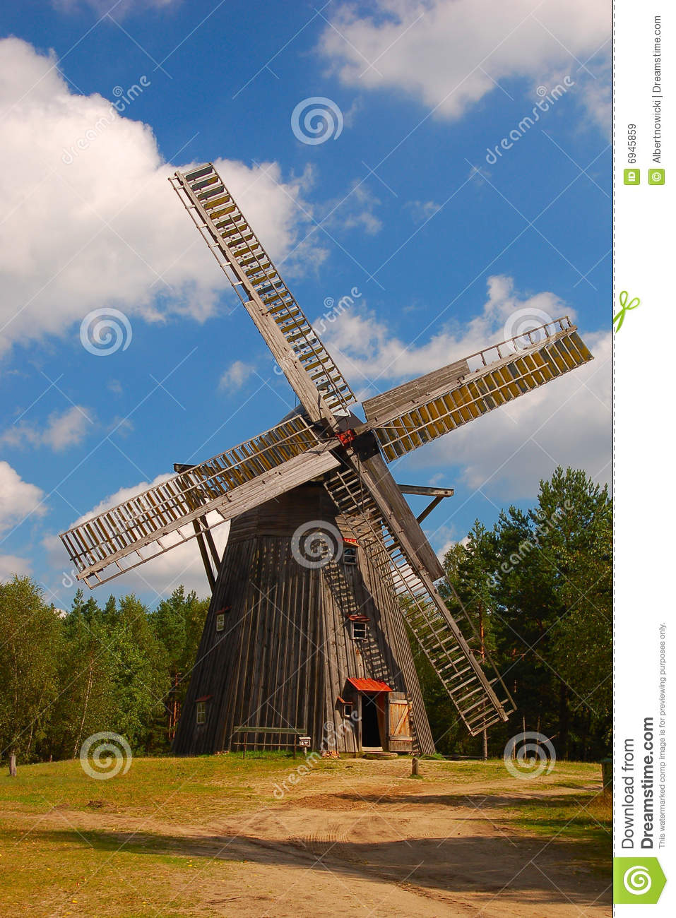 Windmill in polish countryside
