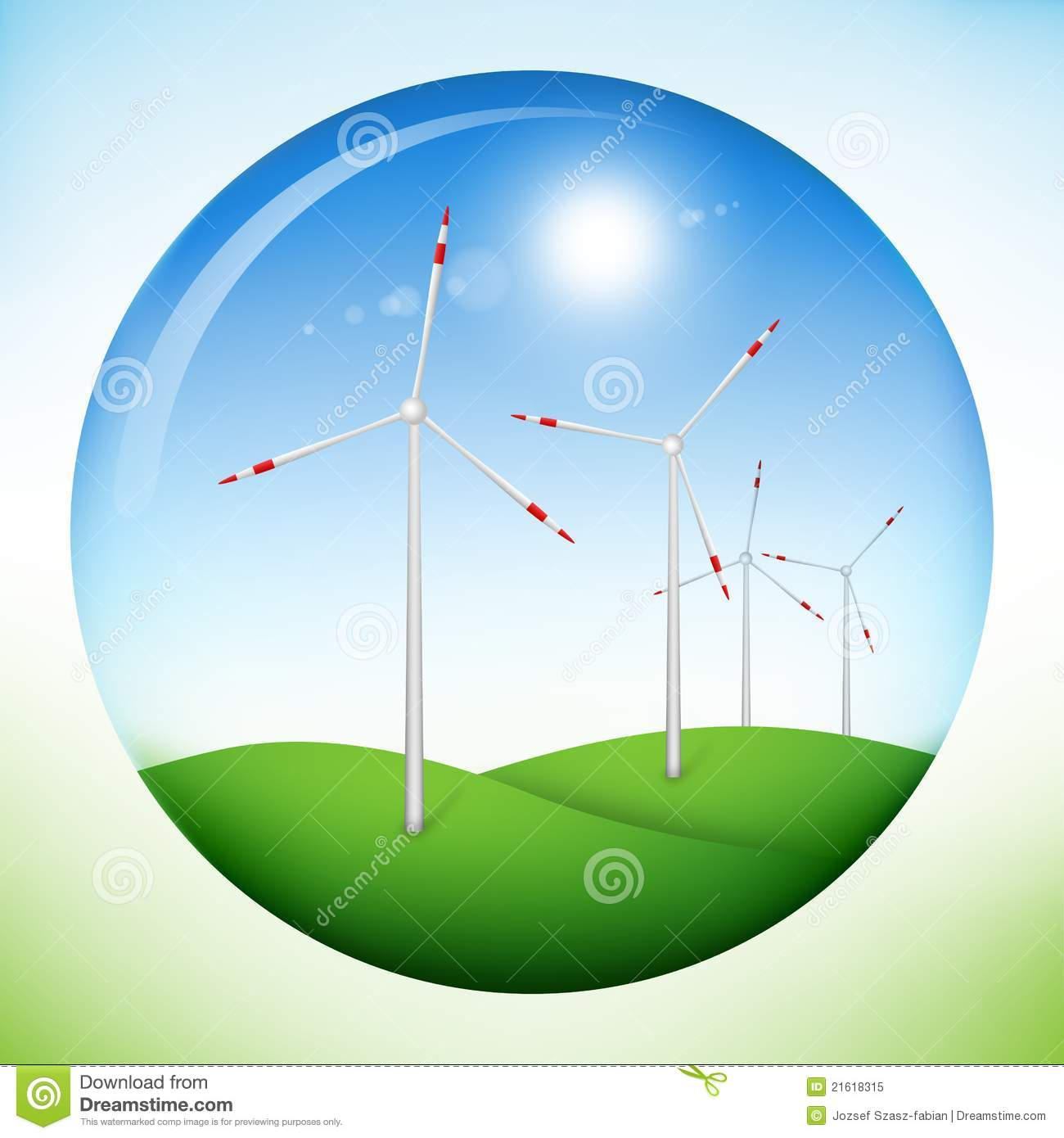 Wind Power Guide Free Energy Generator Plans Download Onan Generators Fordificationcom Of A Sphere With Land Sky Sun And Windmill Inside