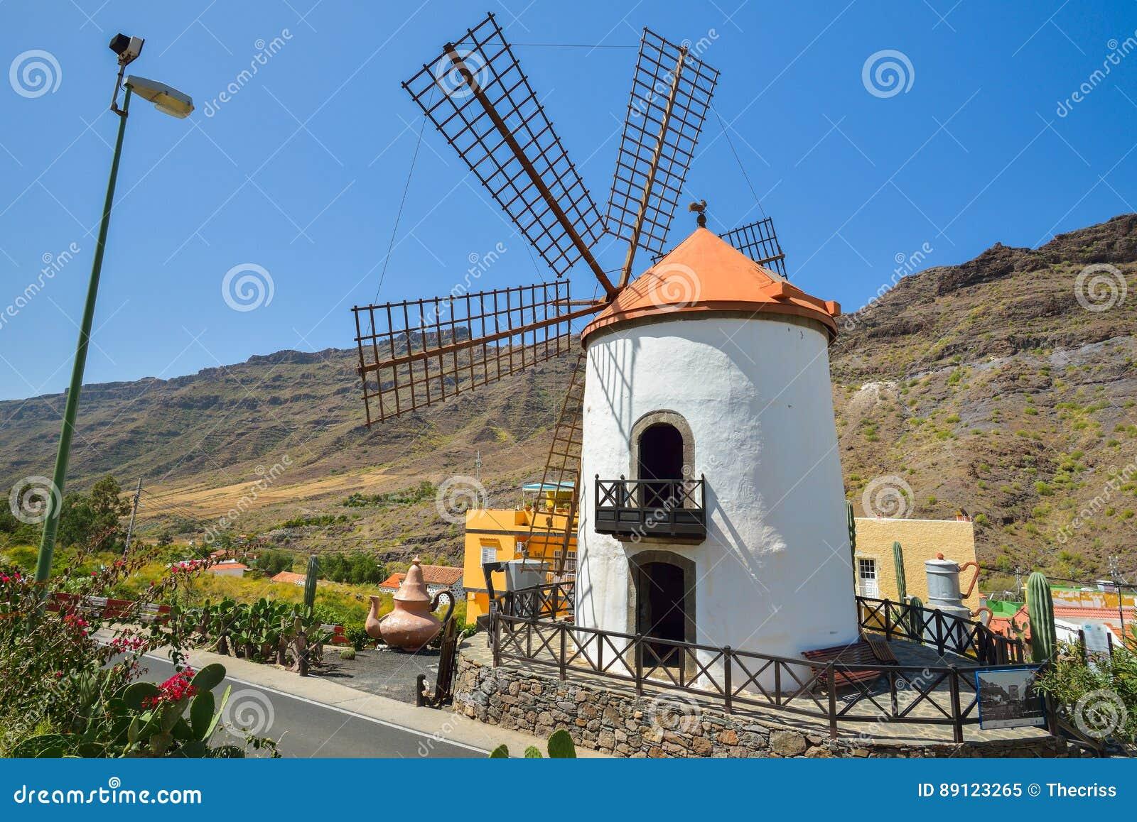 Windmill Pueblo Mogan Gran Canaria, Spain