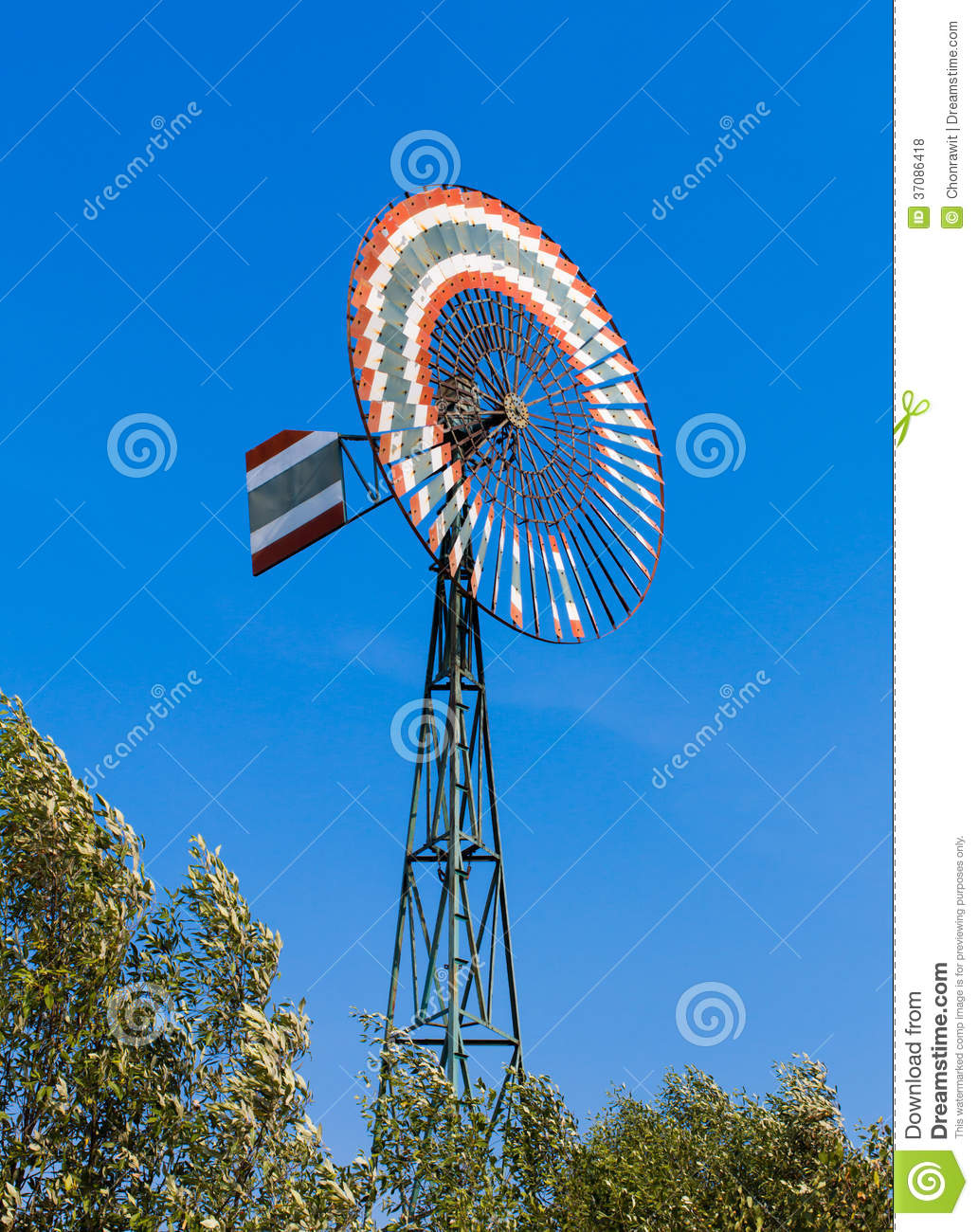 Windmill For Pumping Water Royalty Free Stock Photos ...