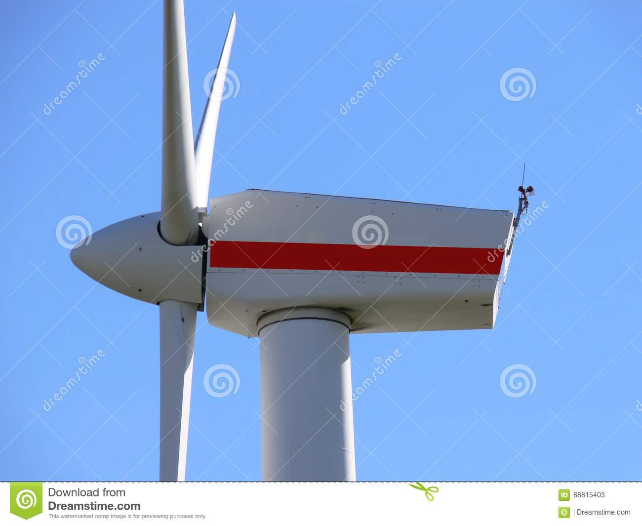 Windmill with a red stripe
