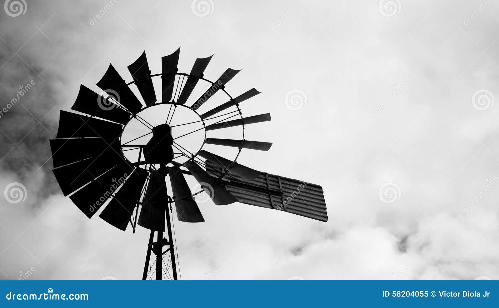 windmill silhouette stock image image of windmill vain 58204055