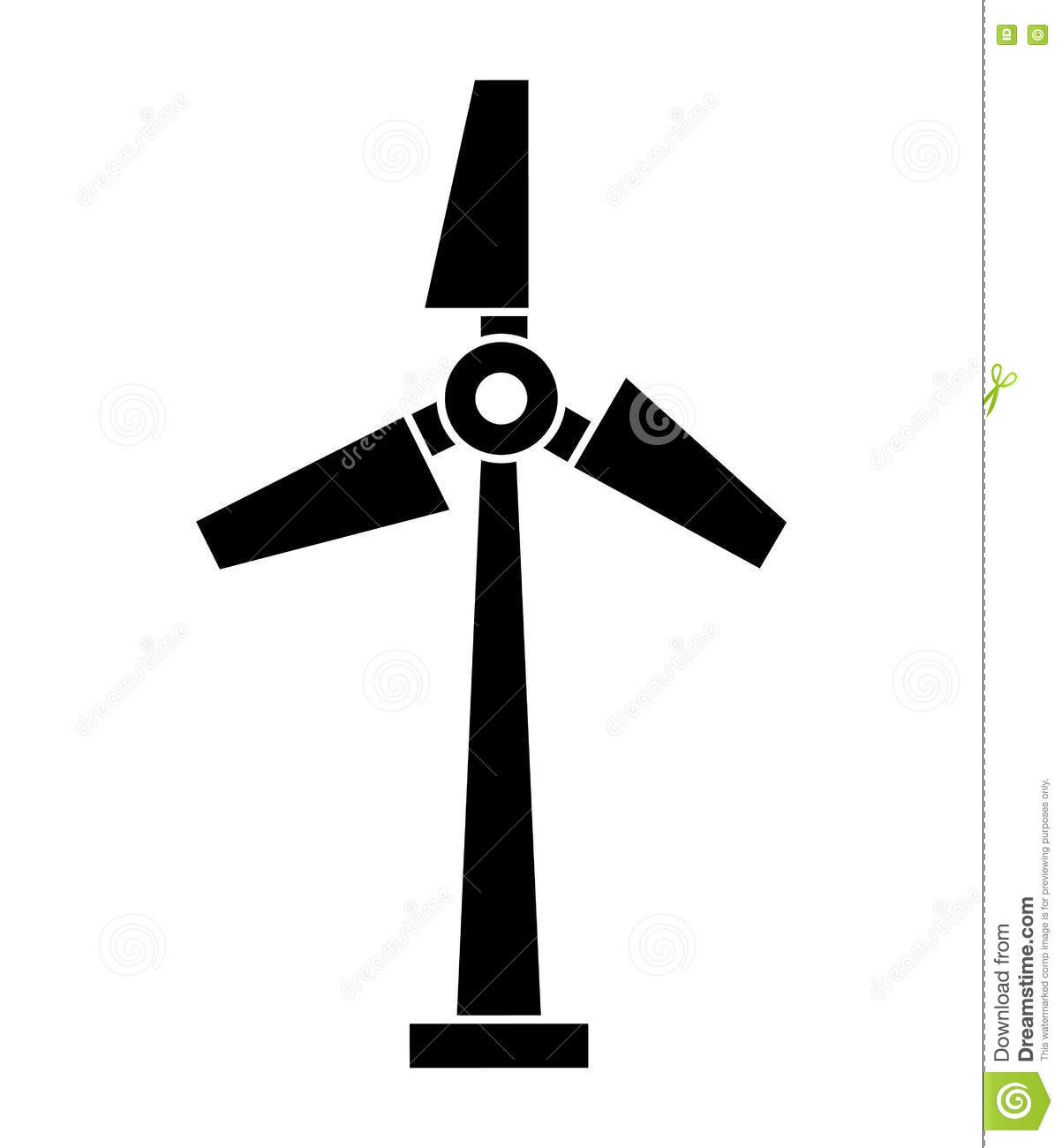 windmill silhouette isolated icon design stock illustration
