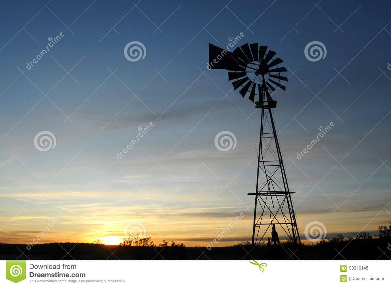Windmill Stock Image Image Of Mexico Silhouette Windmil 93310145