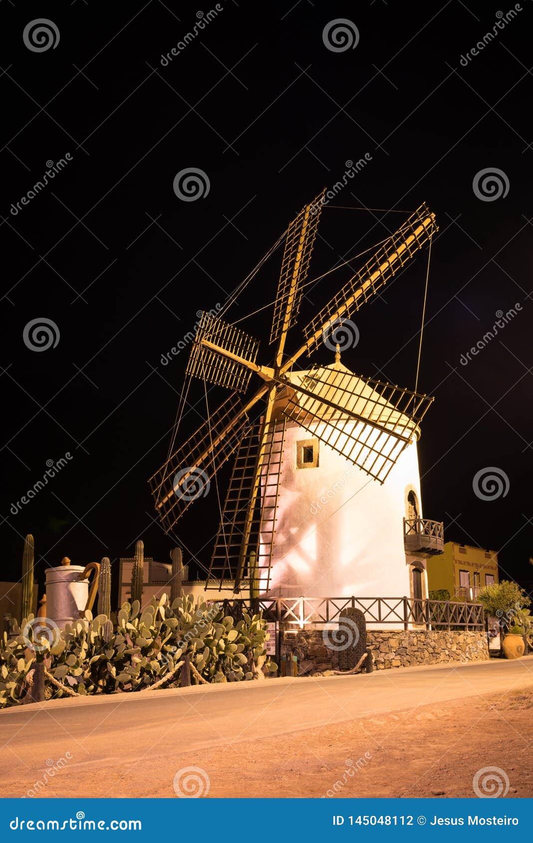 Windmill, village of Mogan in Gran Canaria, Spain