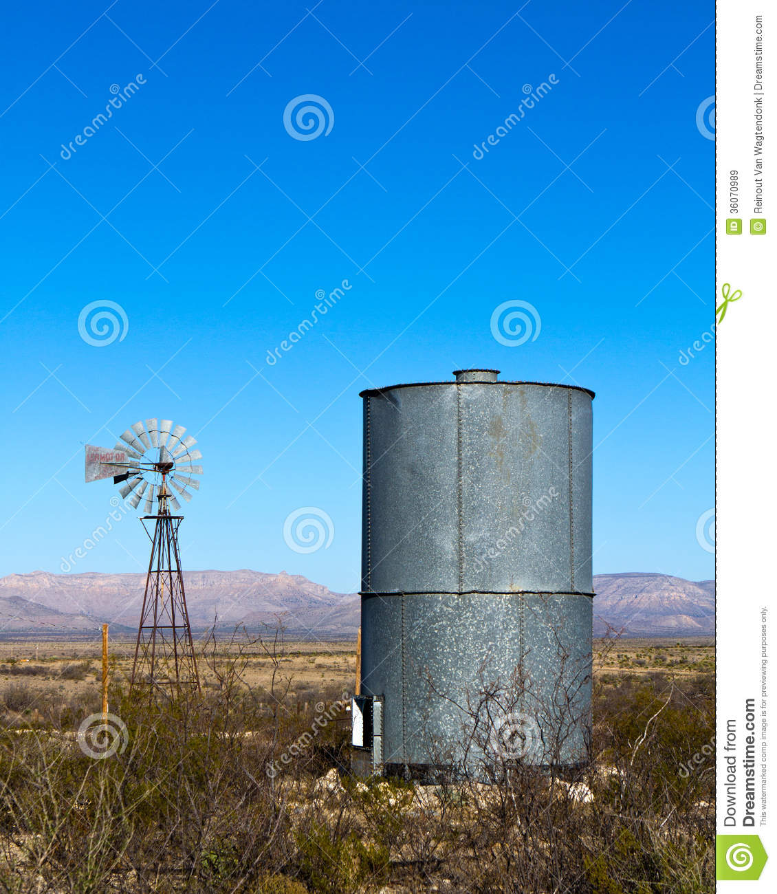 Mountain Vista Water Tank Bell : Windmill water tank royalty free stock images image