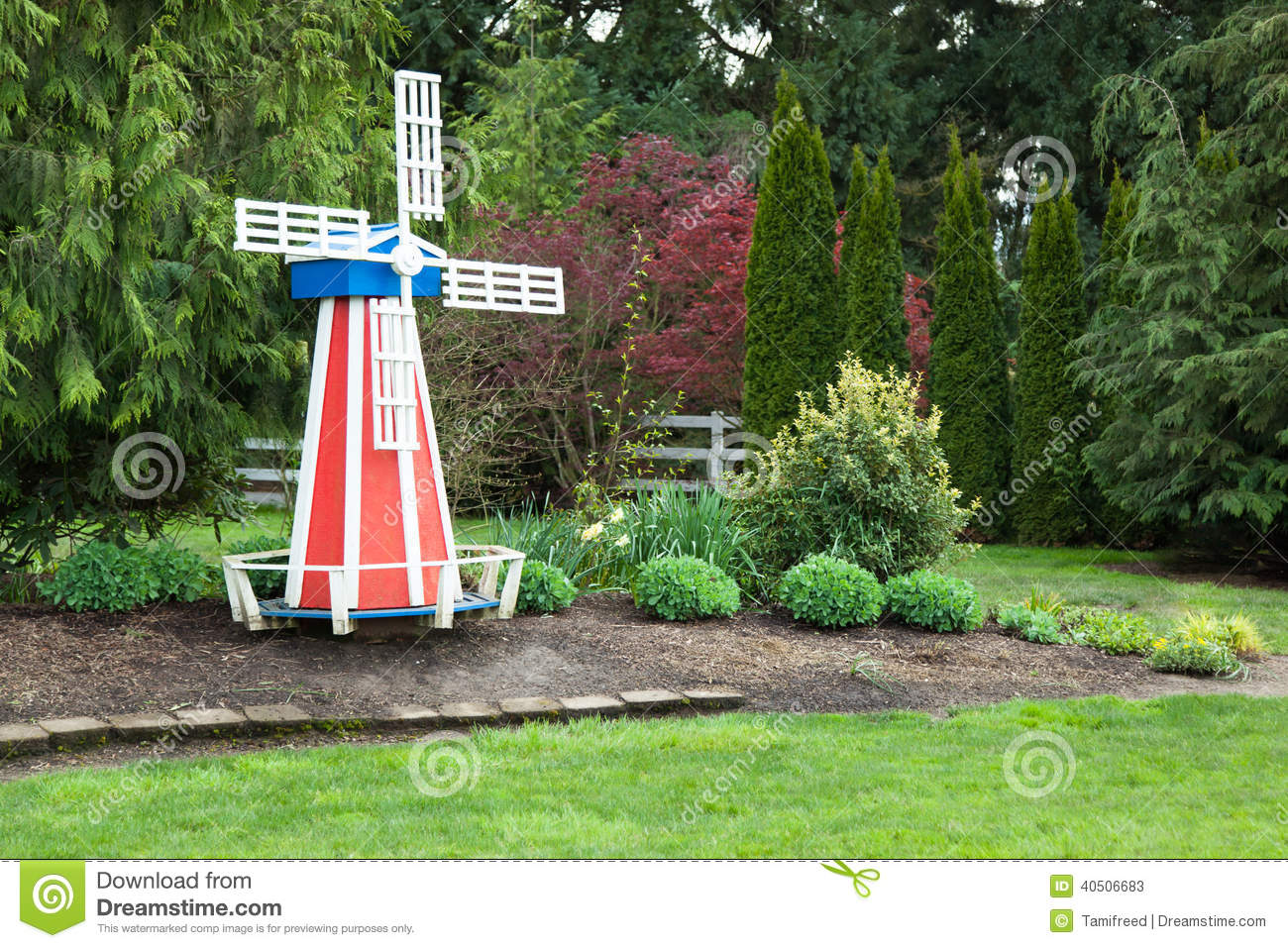 Windmill In Yard Stock Image Image Of North Painted 40506683