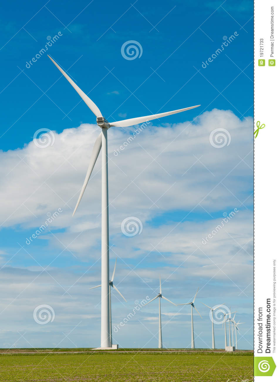Windmills For Generating Electricity Stock Photos - Image: 19721733