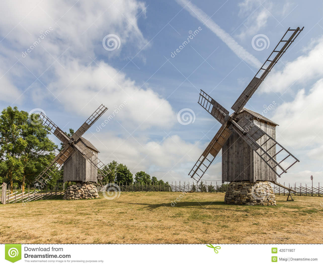Download Windmills stock image. Image of alternative, farm, ecological - 42071907