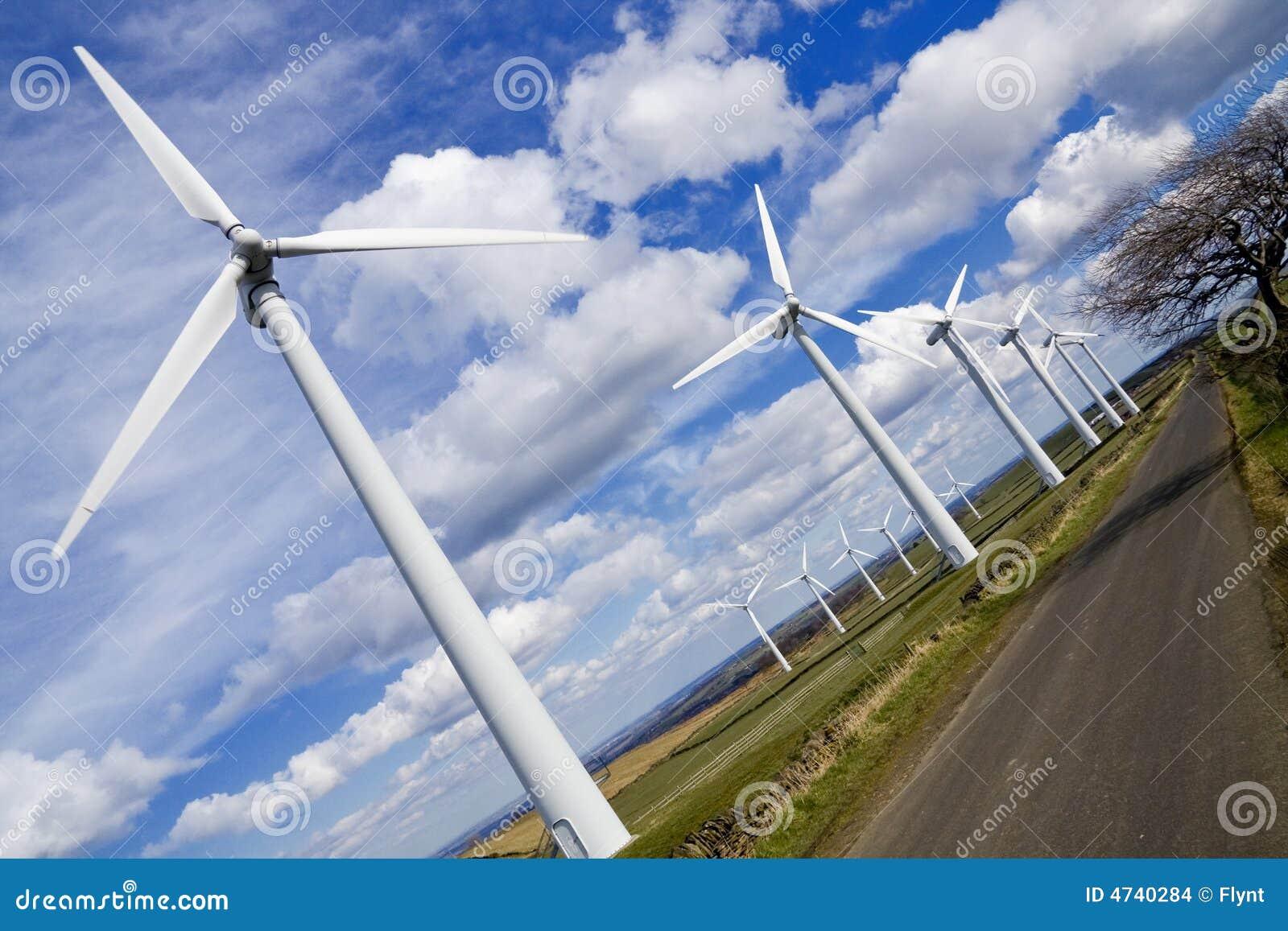 Windmills in windfarm