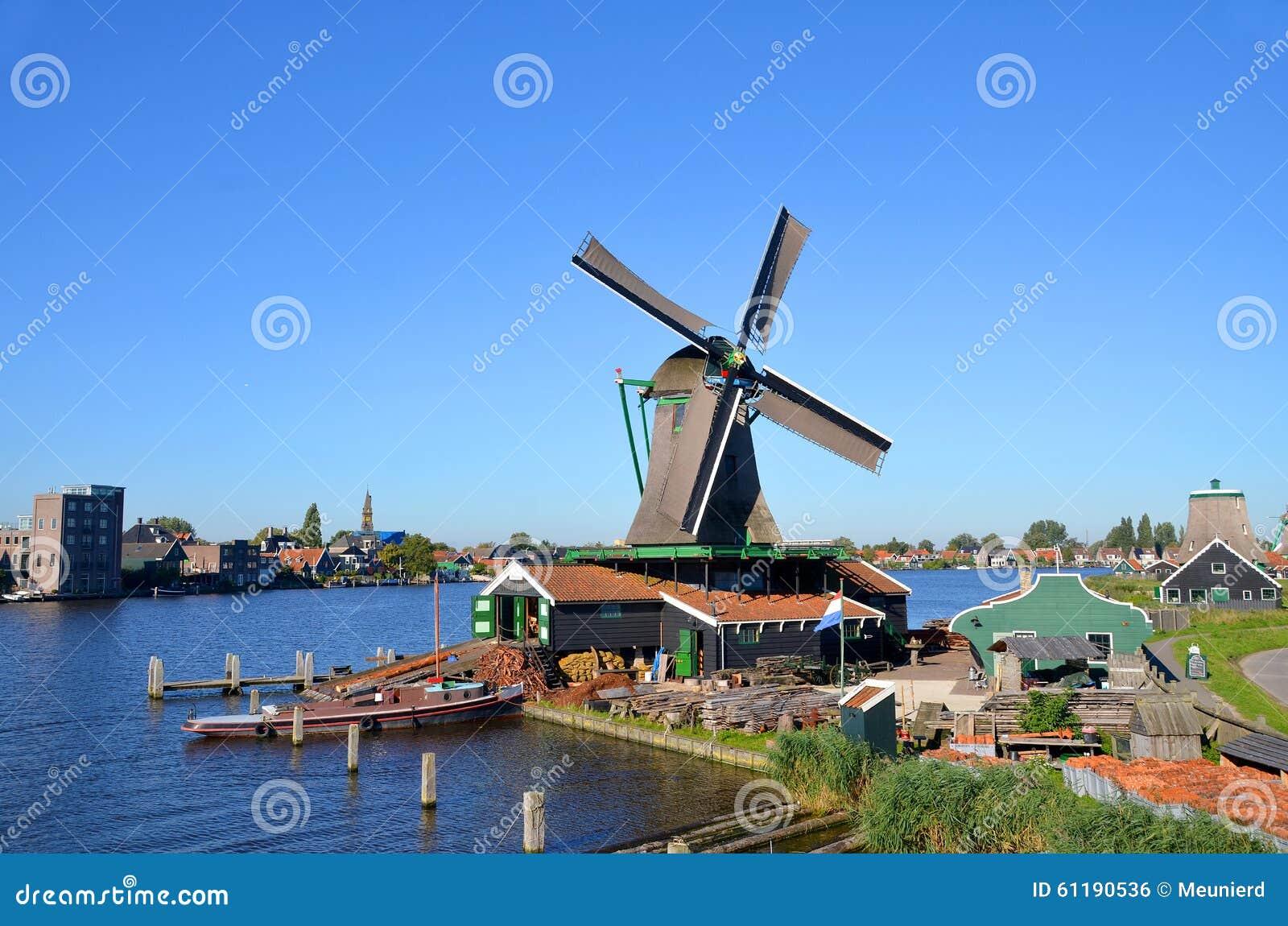 ZAANSE SCHANS NETHERLAND OCTOBER 01 2015: Zaanse Schans is a ...