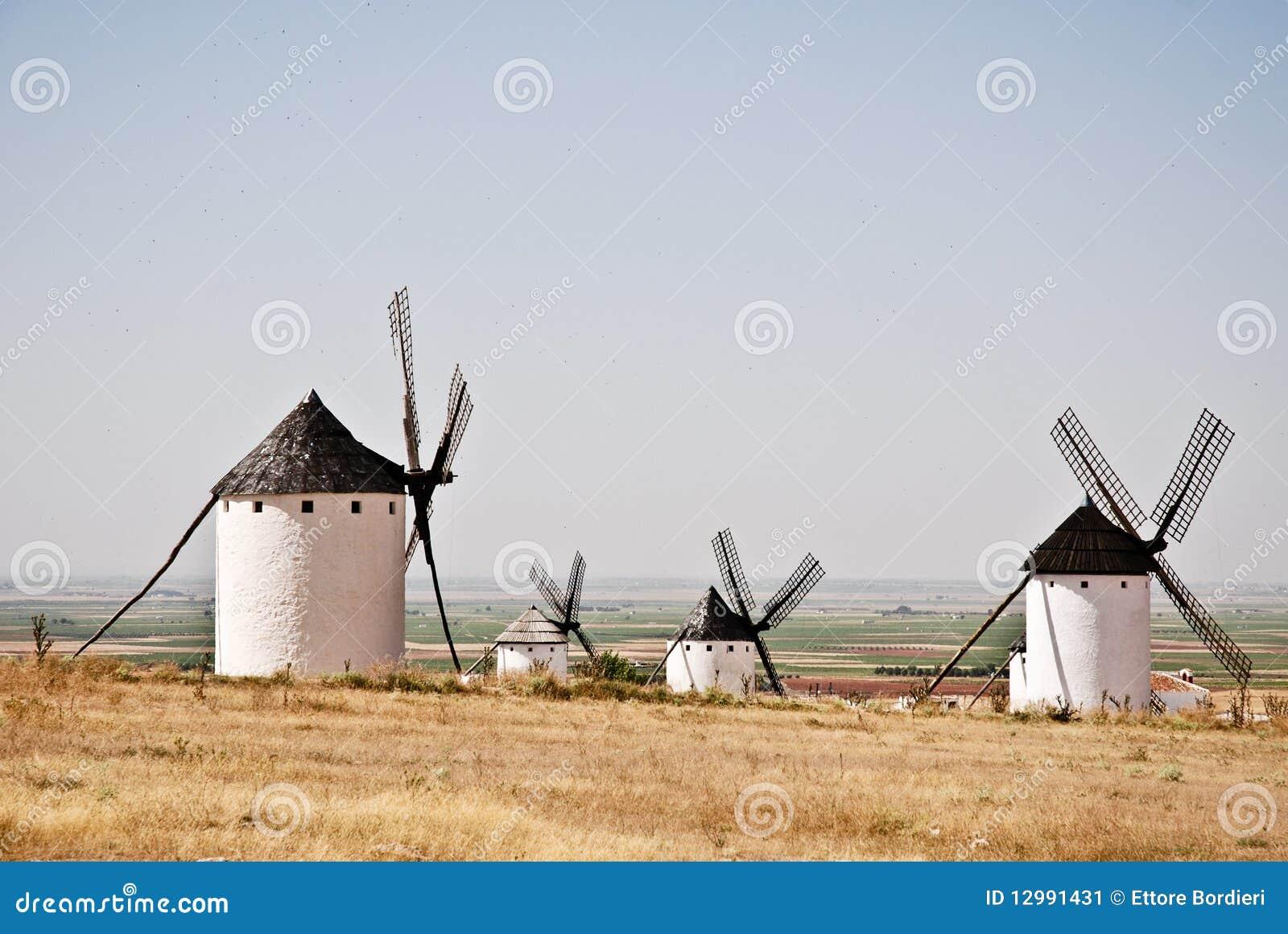Windmils in La Mancha