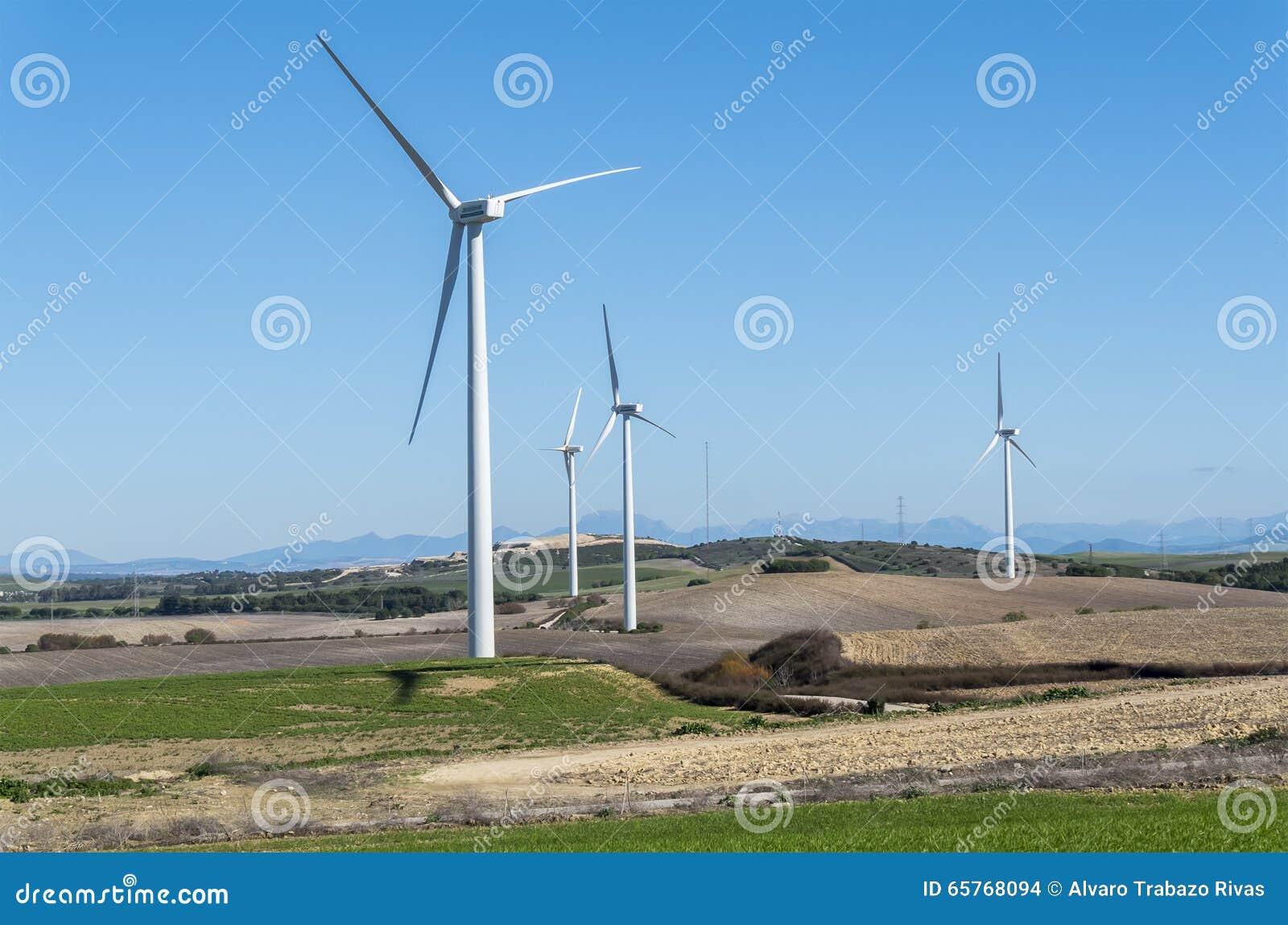 Windmolens voor stroomproductie, ecomacht, windturbine