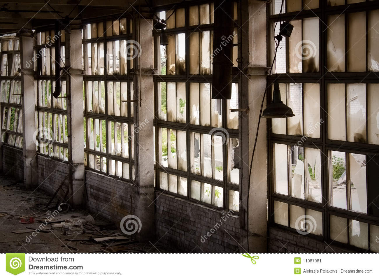 Window of abandoned factory stock image image 11087981 for Window factory