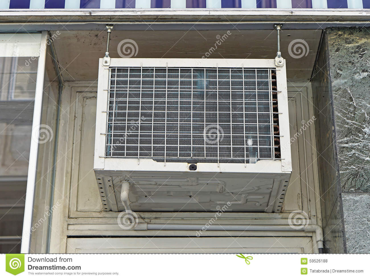 Window Air Conditioner Stock Photo Image Of Cooling