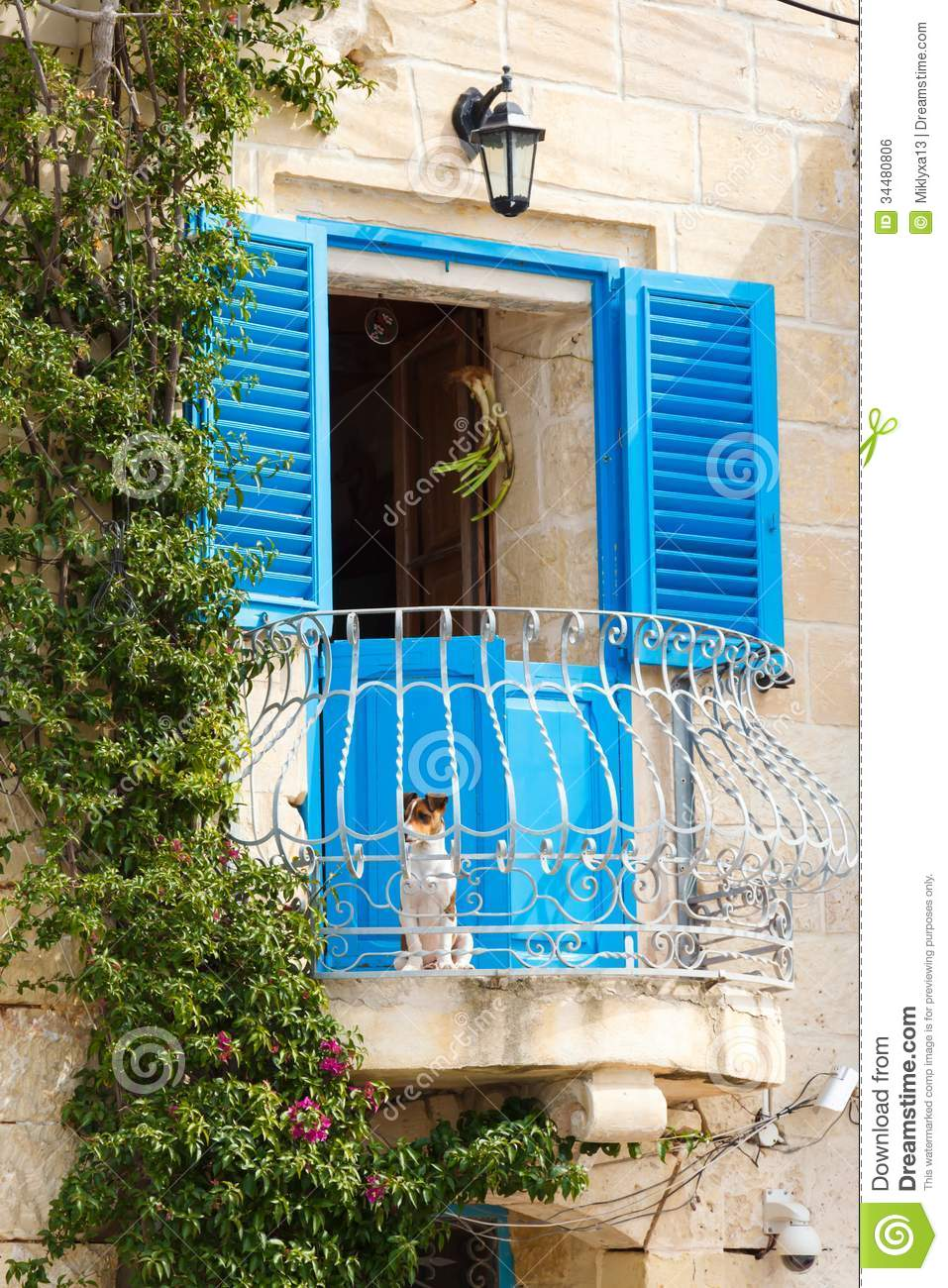 Window And Balcony On Ancient Wall Stock Photo Image Of