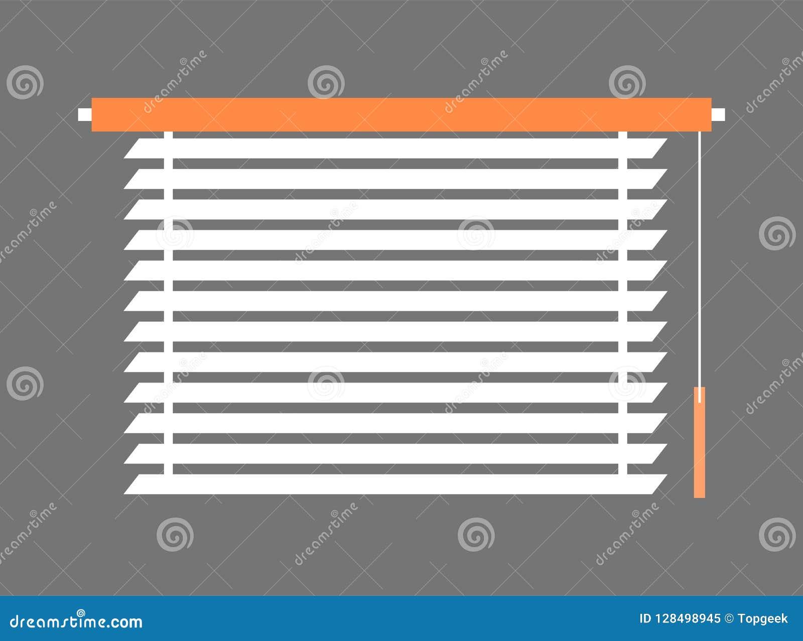 Window Blind Interior Piece Vector Illustration Stock Vector