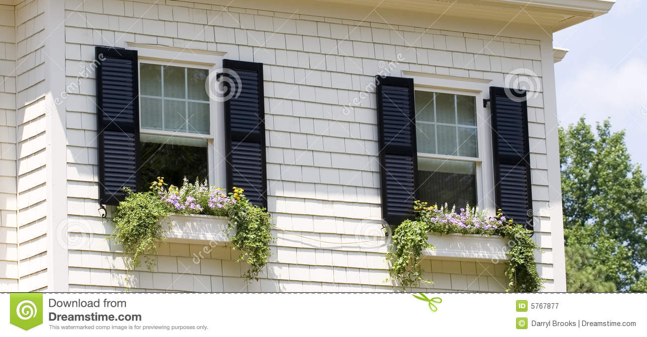 Window Boxes Royalty Free Stock Photography Image 5767877
