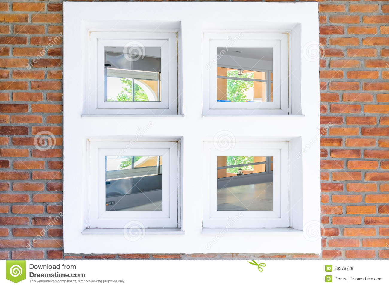 Old Interior Window Walls : Window in brick wall with view inside the interior royalty