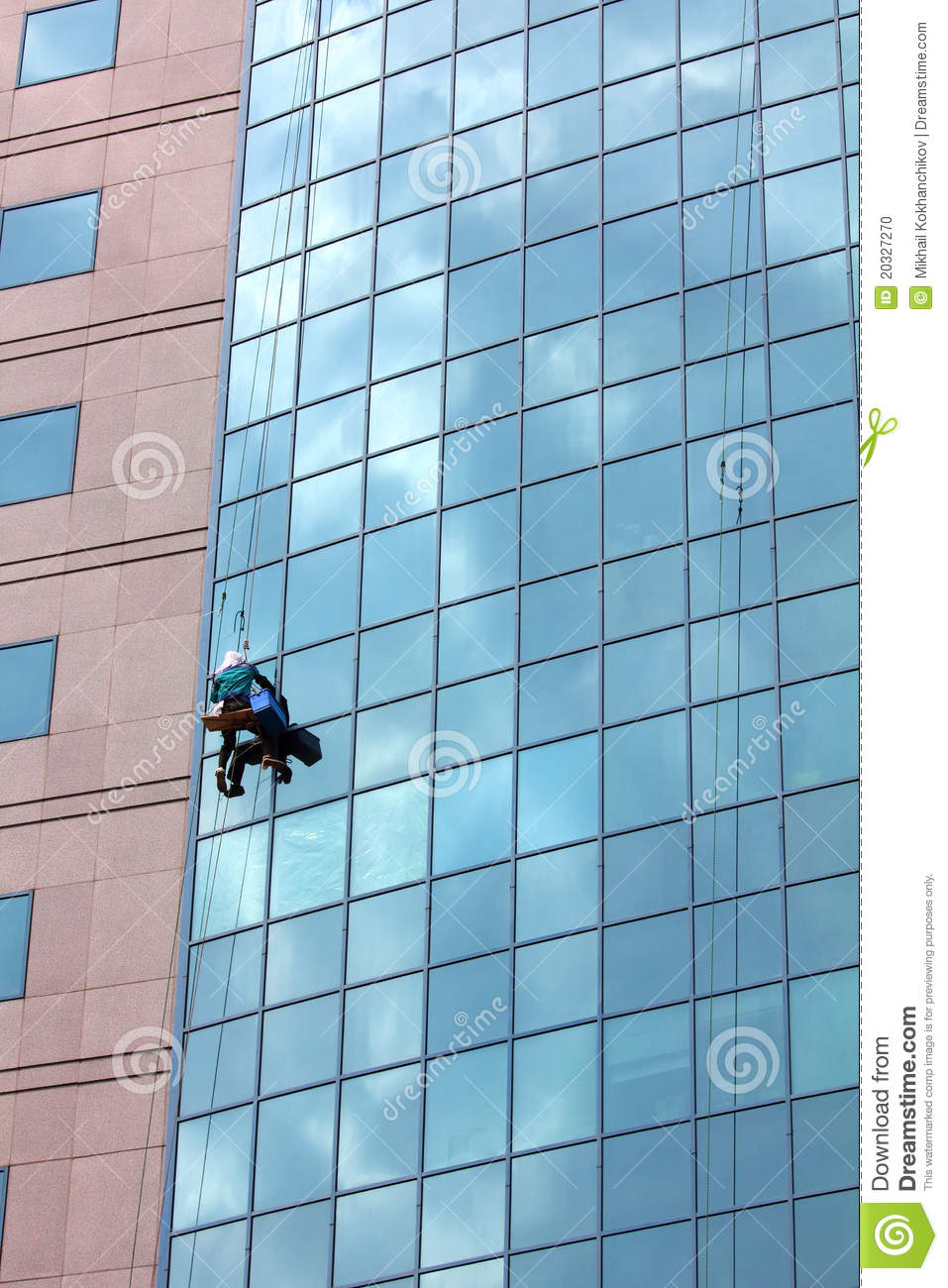Window Cleaner At Work Stock Photo Image 20327270