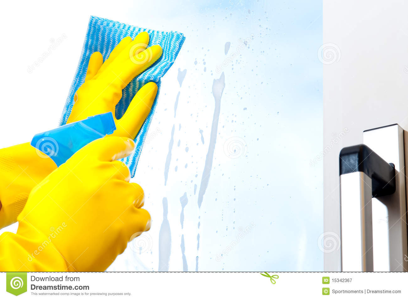 Window Cleaning Royalty Free Stock Photography Image